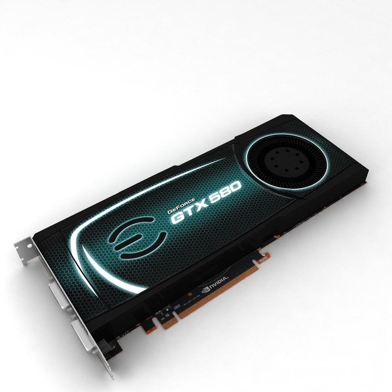 3d model nvidia evga gtx 580