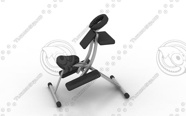 3d model chair massage