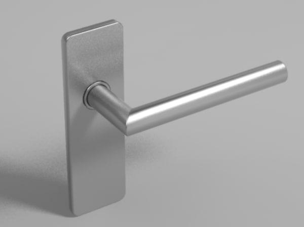 3d obj simple door handle