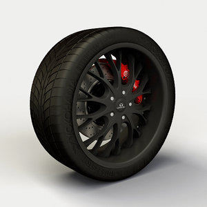 lorenzo wl027 rim tyre 3d model