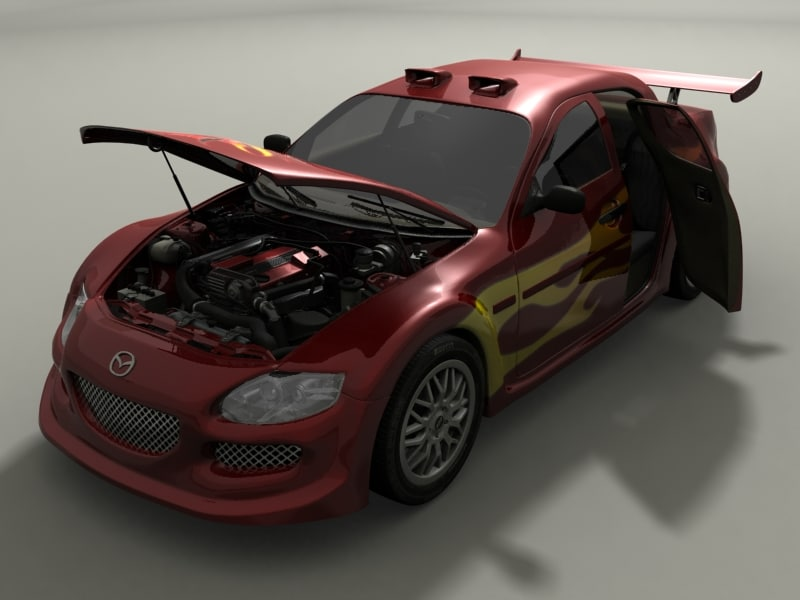 rx8 sport car modelled 3d 3ds