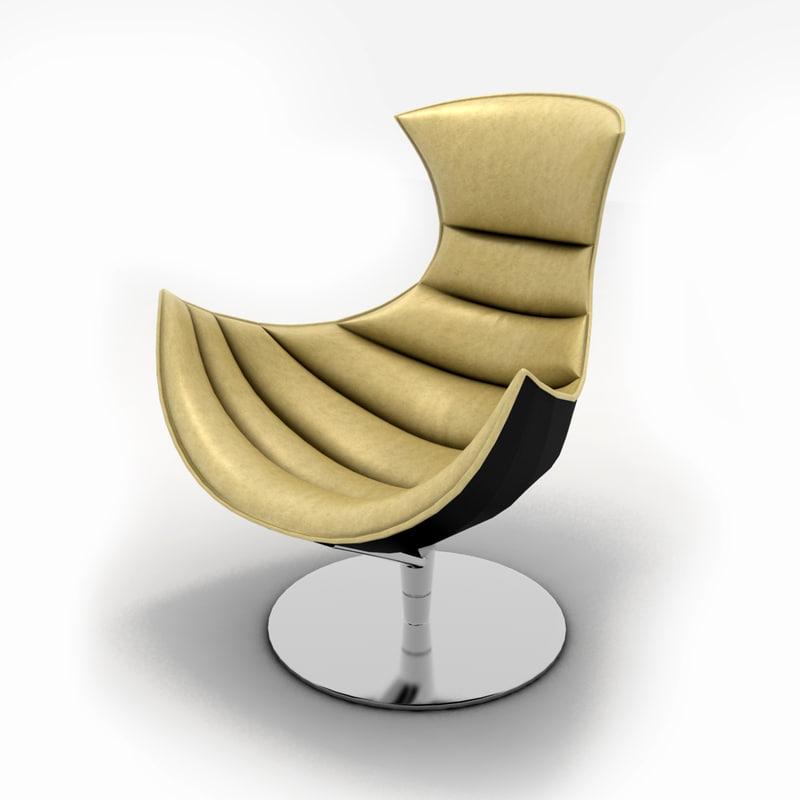 3d lobster chair