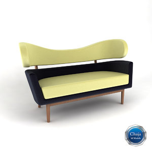 3d sofa couch chair model