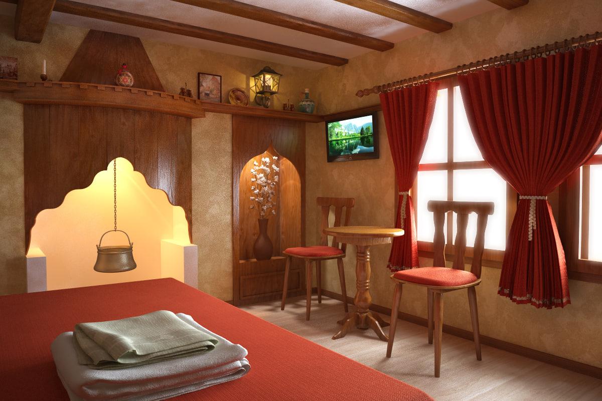 interior scene 3ds