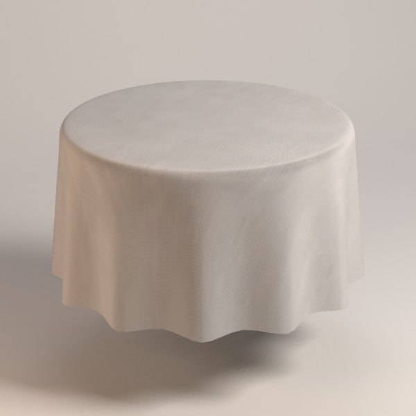 table cloth tablecloth 3d obj