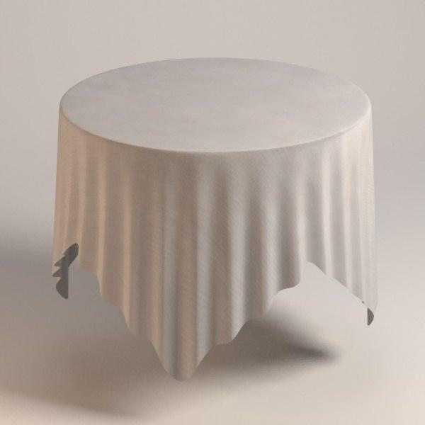table cloth tablecloth 3d model