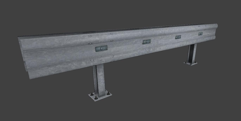 3dsmax highway rail