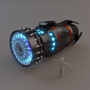 3d spaceship star drive