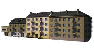 pack tenement houses 3d obj
