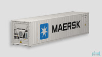 reefer container 3d model