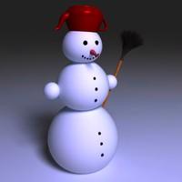 3d max snowman whisk