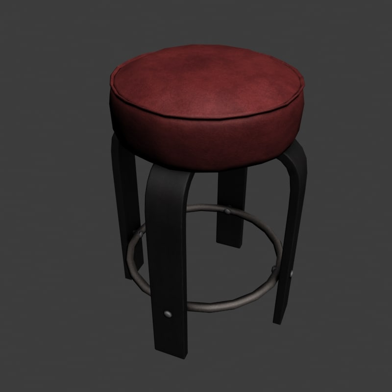 3ds bar chair