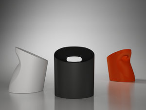 frighetto pouf pot chair 3d model