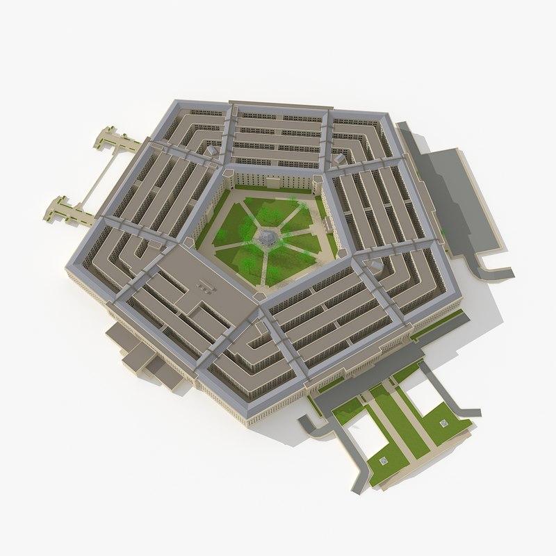 3d pentagon landmark