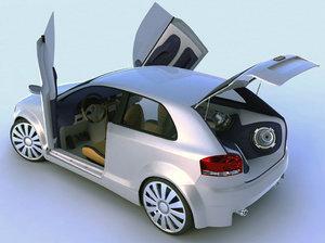 3d model of tuning audi a3