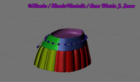 jewellered mini skirt 3d model