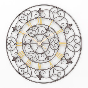 analog decorative wall clock 3ds