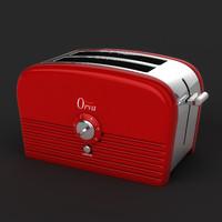 retro 1950 s toaster 3d max