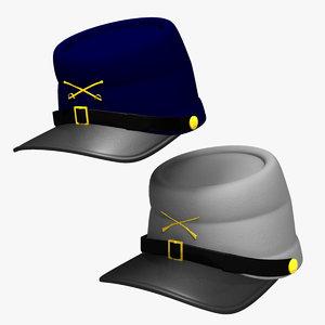 3d civil war caps model