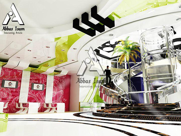 3dsmax interior modern restaurant design