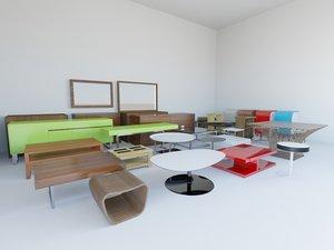 3d tables wardrobes credenzas model