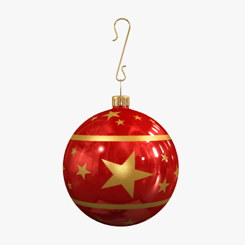 Christmas ball decoration 3d max for Ball balls christmas decoration