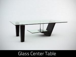 3d model glass center table