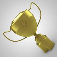 3d model cup star