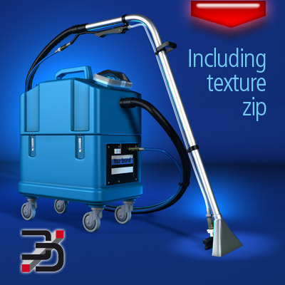 cleaning carpet 3d model