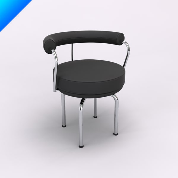 cassina lc7 swivel chair 3d c4d