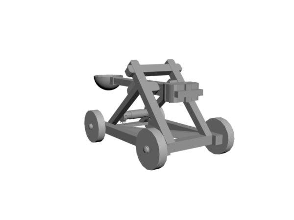 free obj model catapult artillery