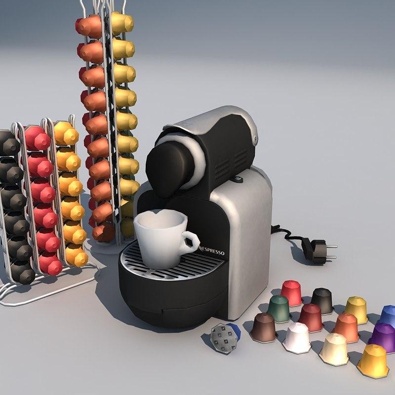 3dsmax espresso machine 01 coffee
