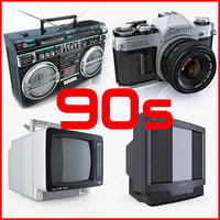 Collection of retro electronics 90s Sony Trinitron Crown Canon set television Boombox Old TV style antique vintage Reel tape recorder classic equipment portable photo camera film complet AE-1 technic televisor player Waltham Telestar
