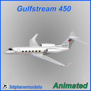 gulfstream g450 flight 3ds