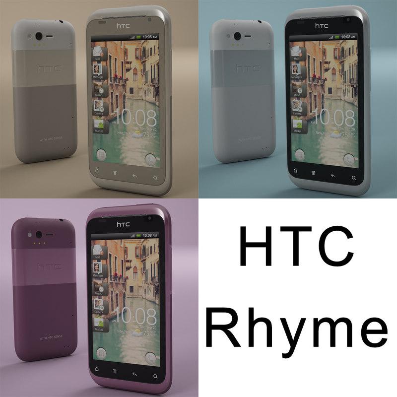 modelled htc rhyme 3d model