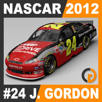 3d model nascar 2012 jeff gordon