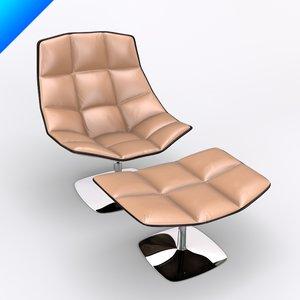3d jehs laub lounge chair model