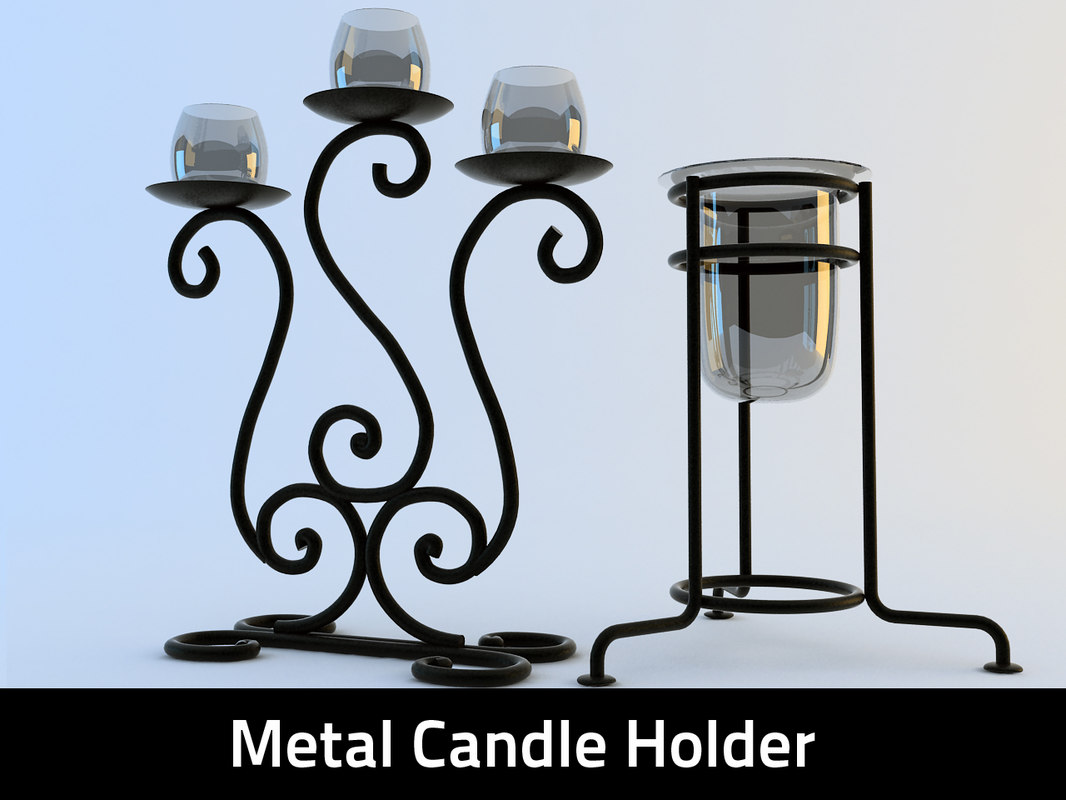 metal candle holder 3d 3ds