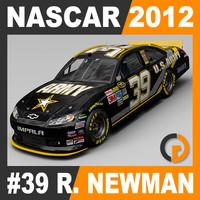 3d 3ds nascar 2012 ryan newman