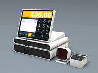 3d contemporary cash register modern