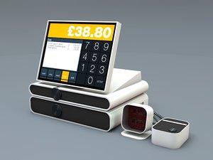 3d contemporary cash register modern