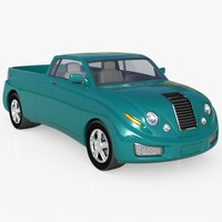 Pickup Concept Truck High Poly