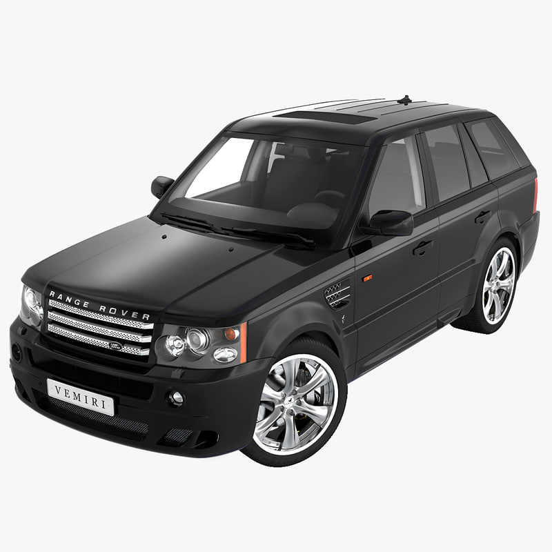 realistic range rover sport 3d max