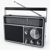 radio national panasonic rf1090 3d model