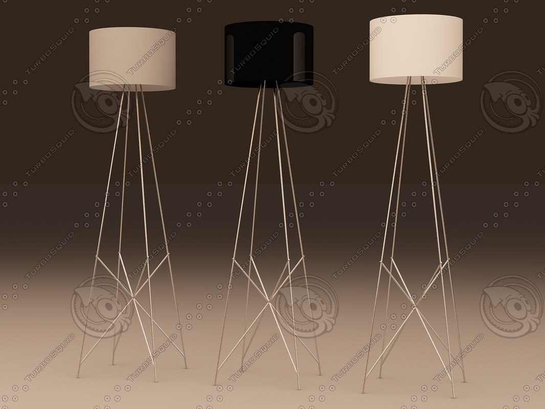 3d flos f2 floor lamp model