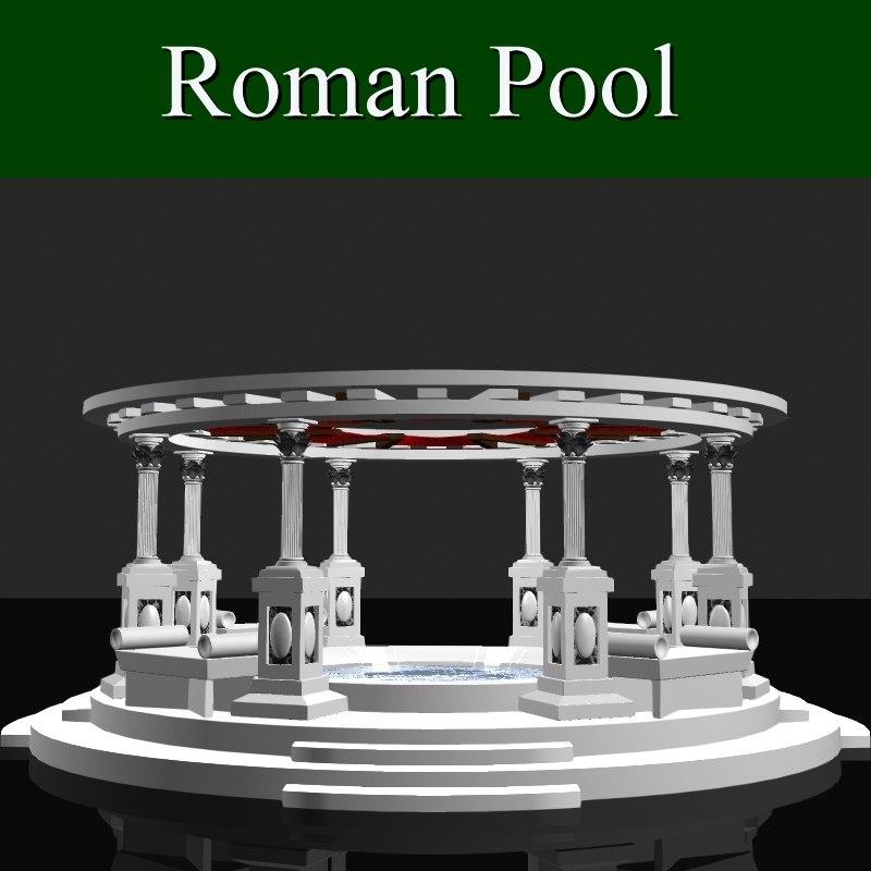 roman pool 3d obj