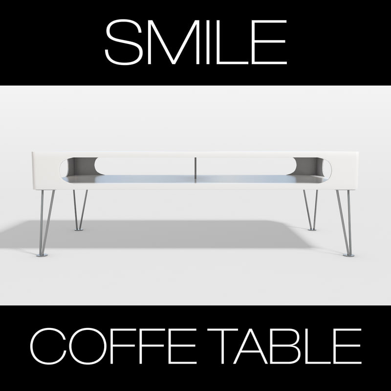 3dsmax smile coffe table