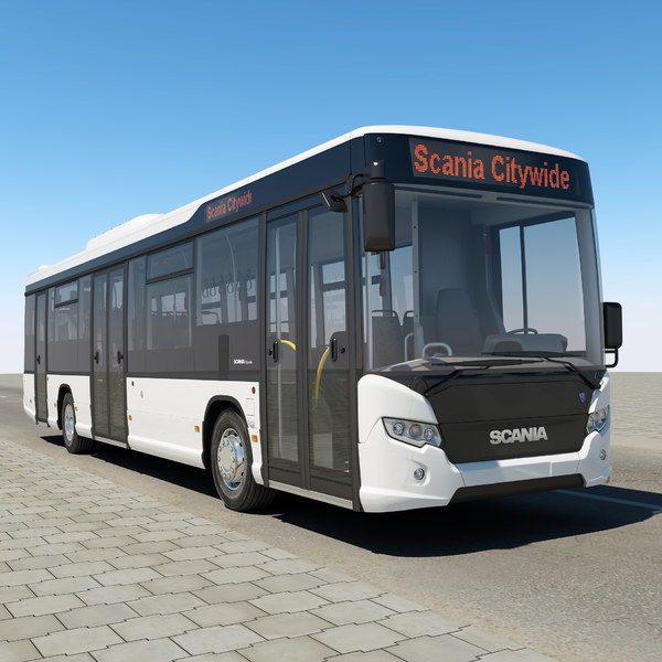 scania citywide 2011 3d model