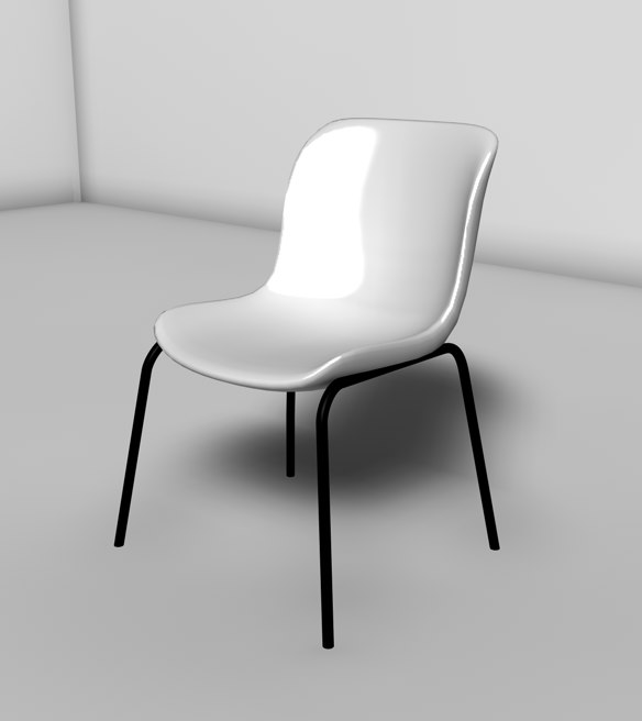 plastic chair 3d c4d