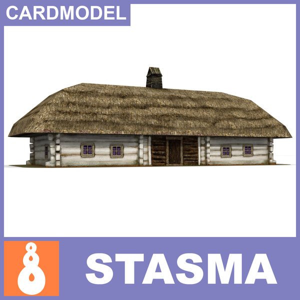 free paper ukrainian house 3d model